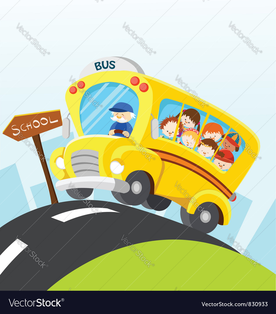 School bus vector | Price: 3 Credit (USD $3)