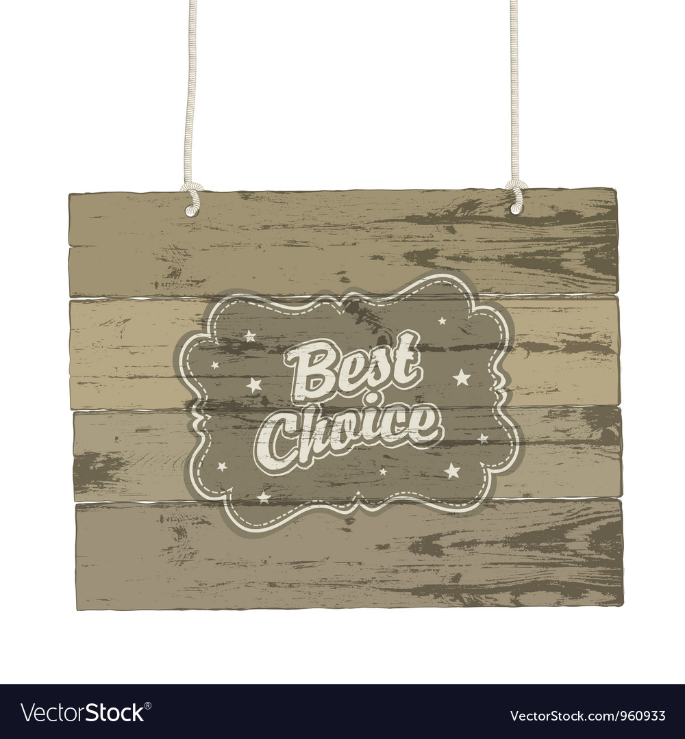 Vintage wooden sign vector | Price: 1 Credit (USD $1)