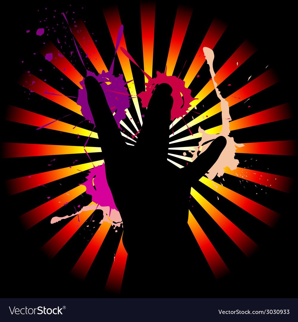 West coast hand sign vector | Price: 1 Credit (USD $1)