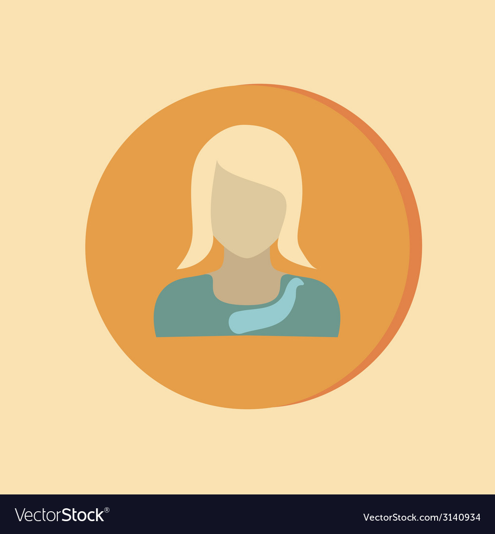 A female avatar avatar of a woman round icon image vector | Price: 1 Credit (USD $1)