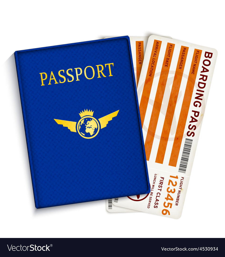 Airline passenger boarding pass tickets vector | Price: 1 Credit (USD $1)