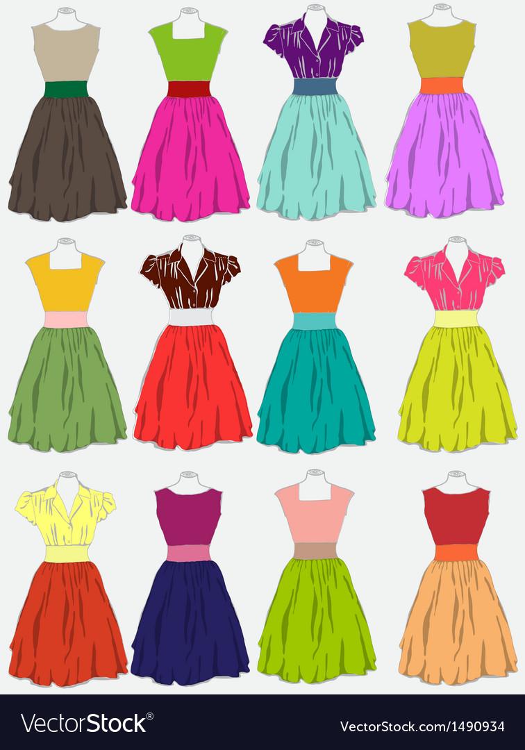 Beautiful dress vector | Price: 1 Credit (USD $1)