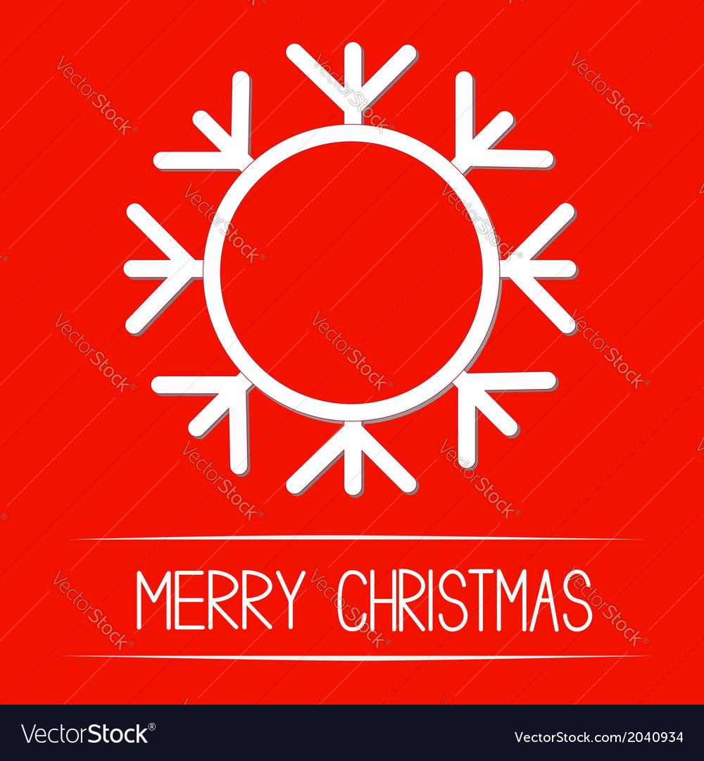 Big snowflake merry christmas card vector | Price: 1 Credit (USD $1)