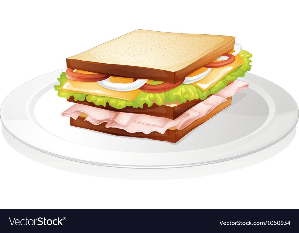 Bread sandwich vector | Price: 3 Credit (USD $3)