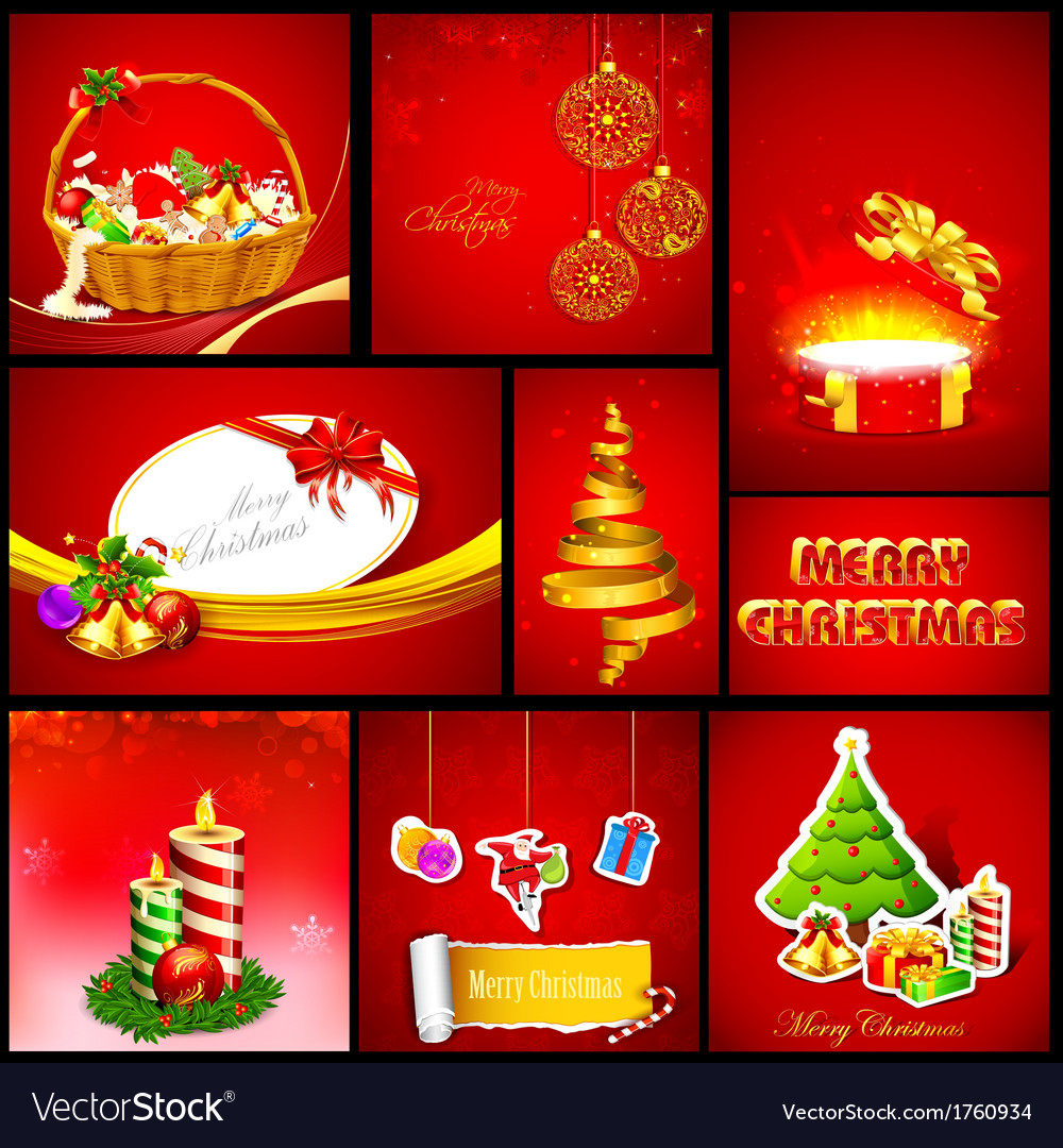 Christmas background template vector | Price: 1 Credit (USD $1)