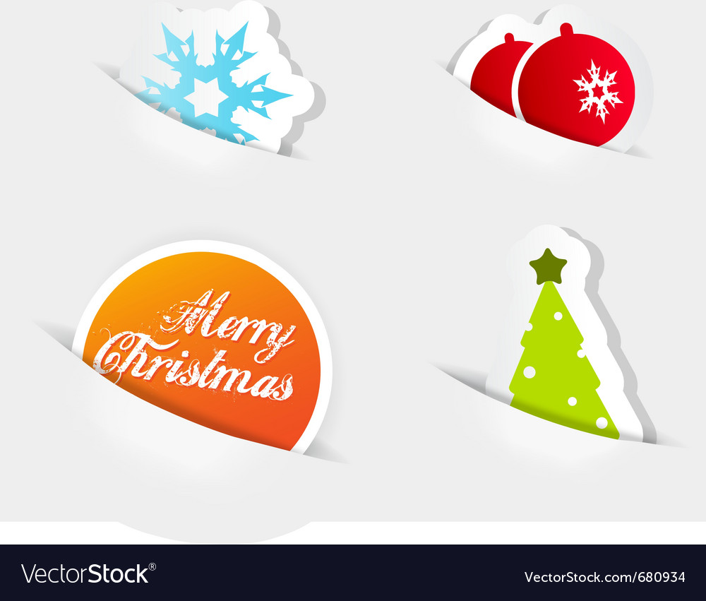 Christmas colored symbols vector   Price: 1 Credit (USD $1)