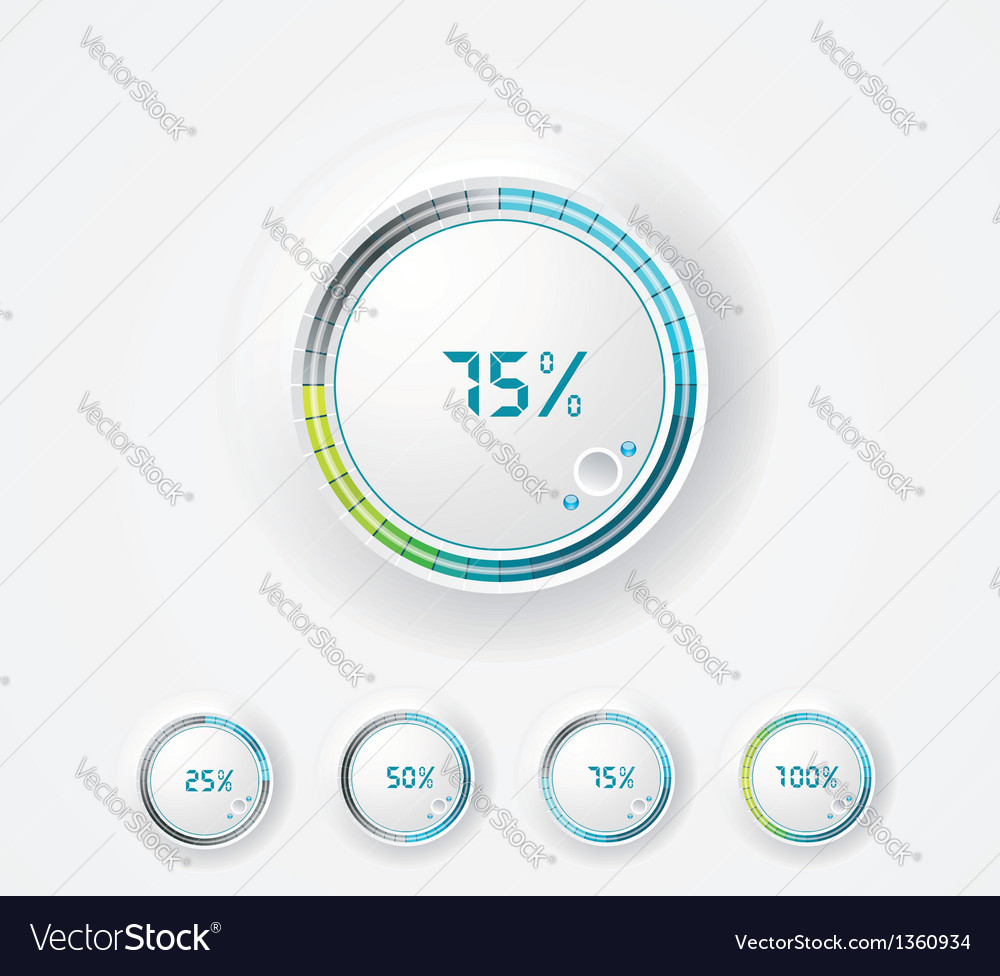 Clean round progress bar vector | Price: 1 Credit (USD $1)