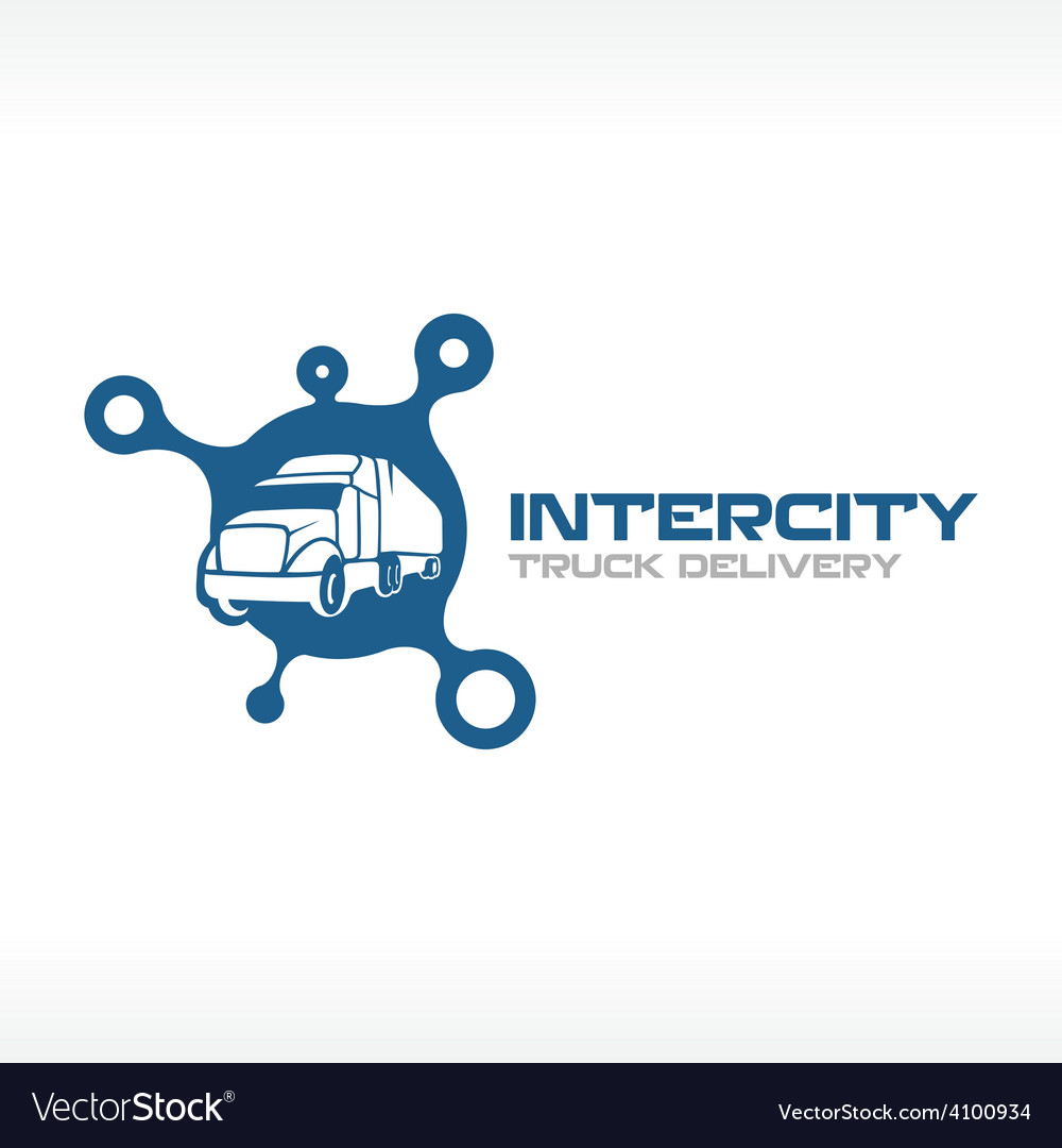 Delivery truck service logo template intercity vector | Price: 1 Credit (USD $1)