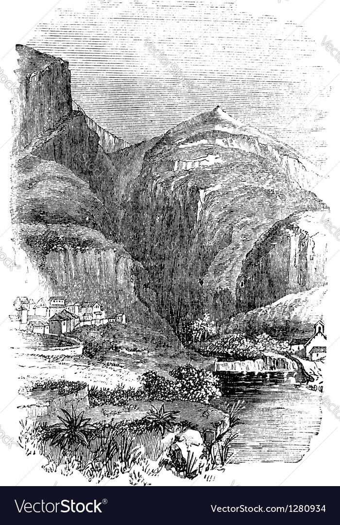Delphi greece vintage engraving vector | Price: 1 Credit (USD $1)