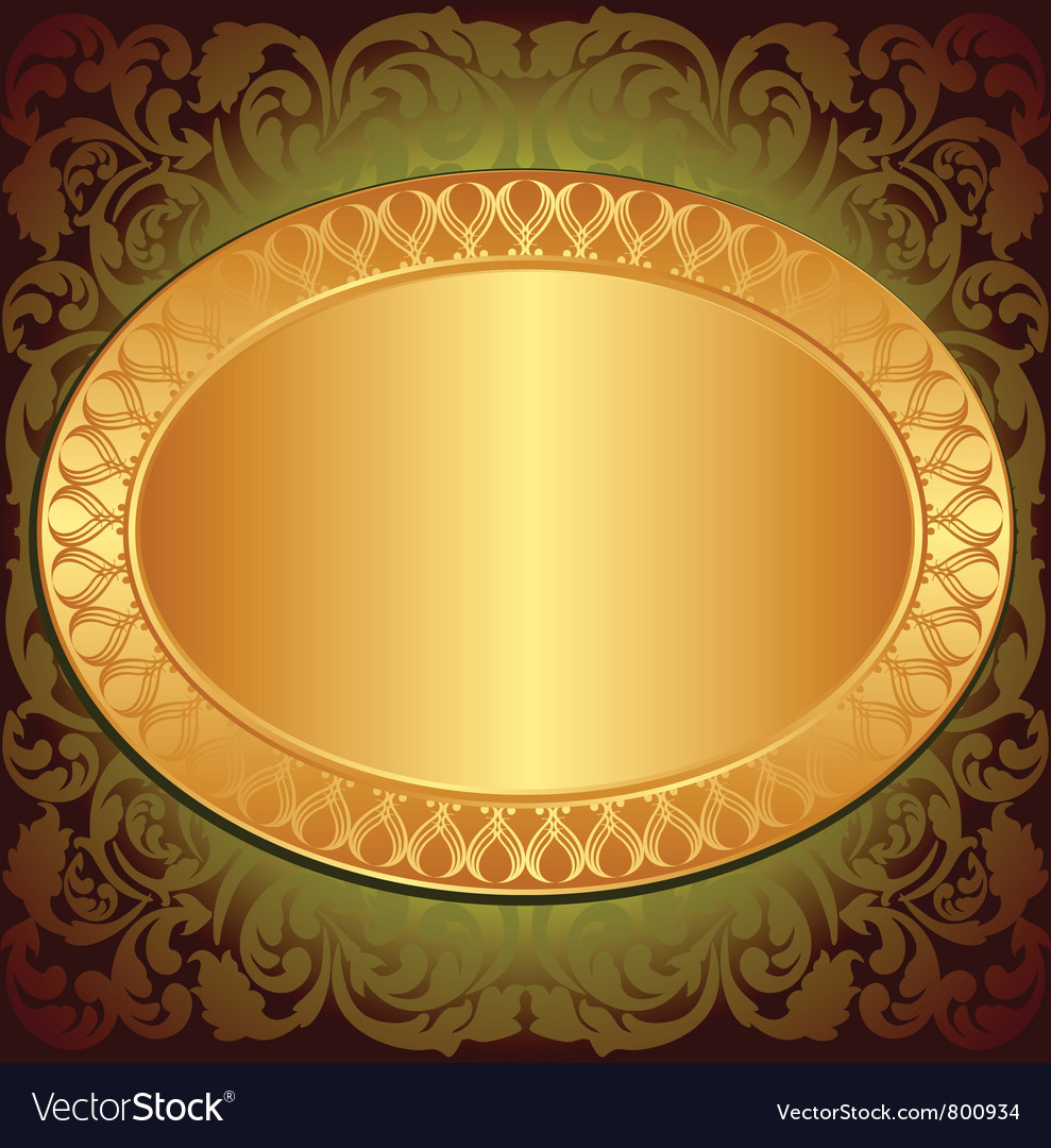 Gold end brown background vector | Price: 1 Credit (USD $1)