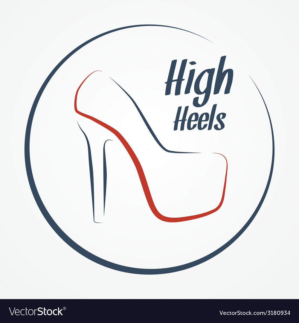High heels logo vector | Price: 1 Credit (USD $1)