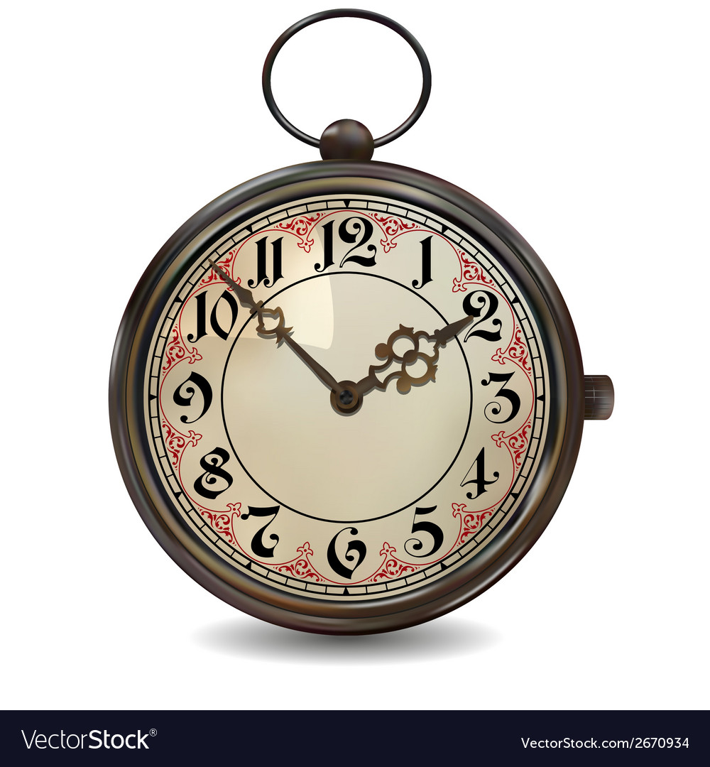 Rusty pocket watch vector | Price: 1 Credit (USD $1)
