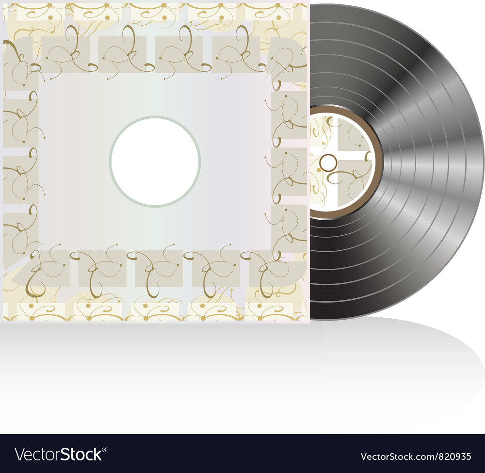 Black vinyl disc with grunge abstract cover vector | Price: 1 Credit (USD $1)