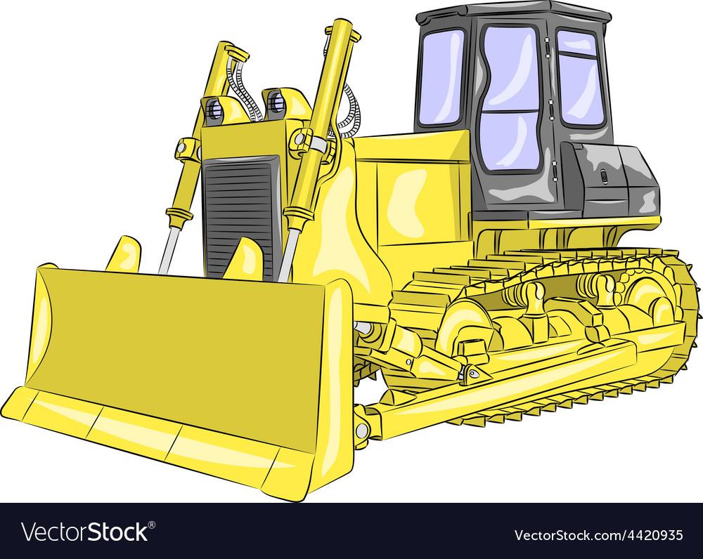 Bulldozer vector   Price: 1 Credit (USD $1)