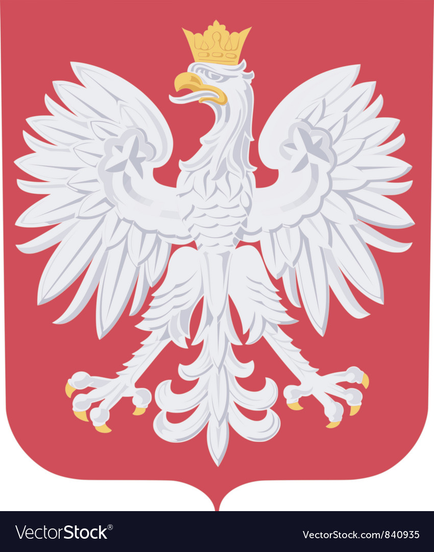 Coat of arms of poland vector | Price: 3 Credit (USD $3)