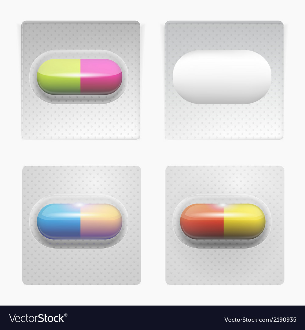 Colored pills vector | Price: 1 Credit (USD $1)