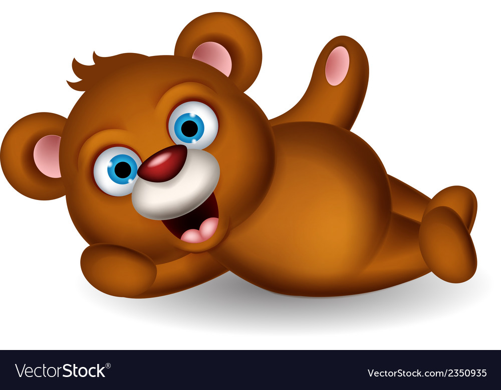 Cute brown bear cartoon posing vector | Price: 1 Credit (USD $1)