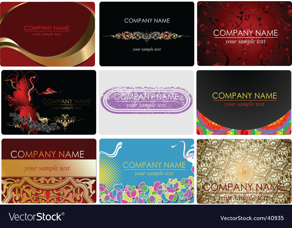 Glamor fashion business cards vector | Price: 3 Credit (USD $3)