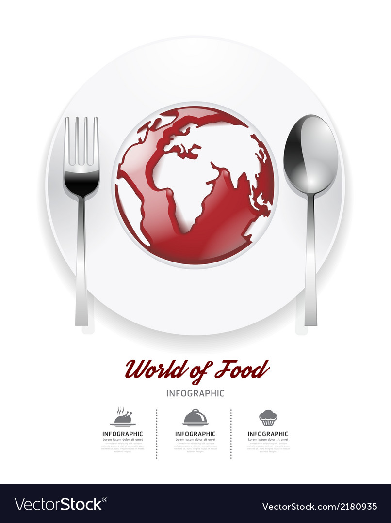 Infographic world of food design template vector | Price: 1 Credit (USD $1)