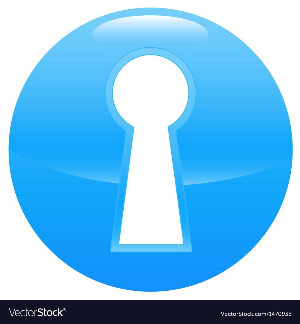 Keyhole blue icon vector | Price: 1 Credit (USD $1)