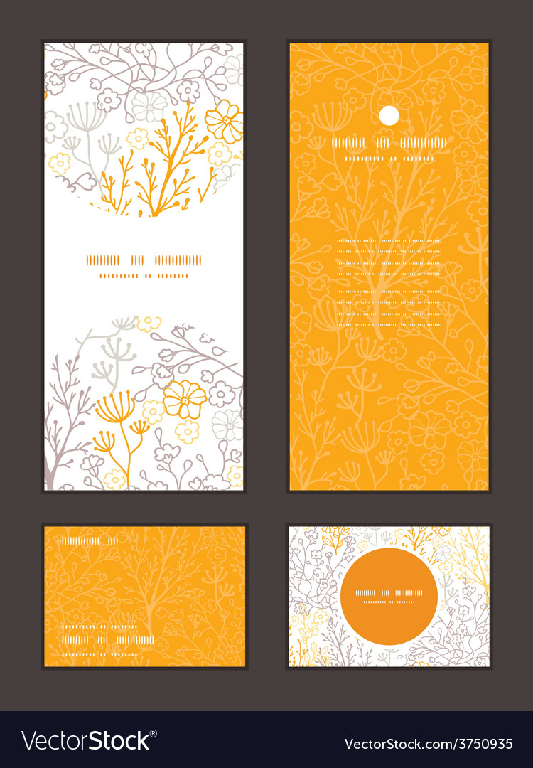 Magical floral vertical frame pattern vector   Price: 1 Credit (USD $1)