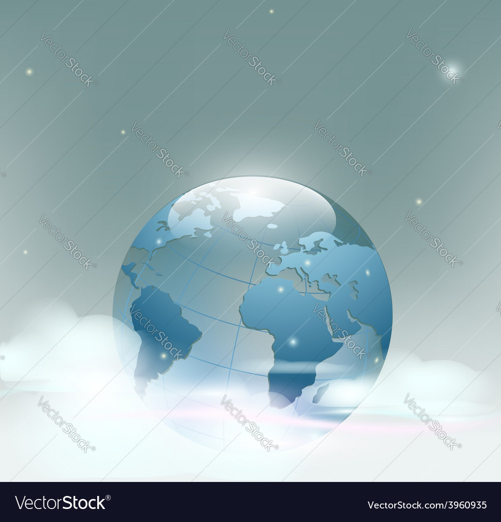 Planet earth is covered by clouds vector | Price: 1 Credit (USD $1)