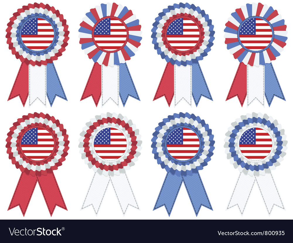 Usa rosettes vector | Price: 1 Credit (USD $1)