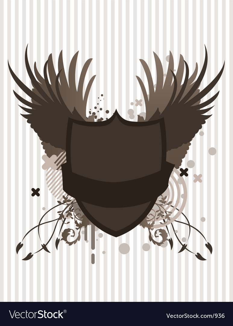 Crest with wings vector | Price: 1 Credit (USD $1)