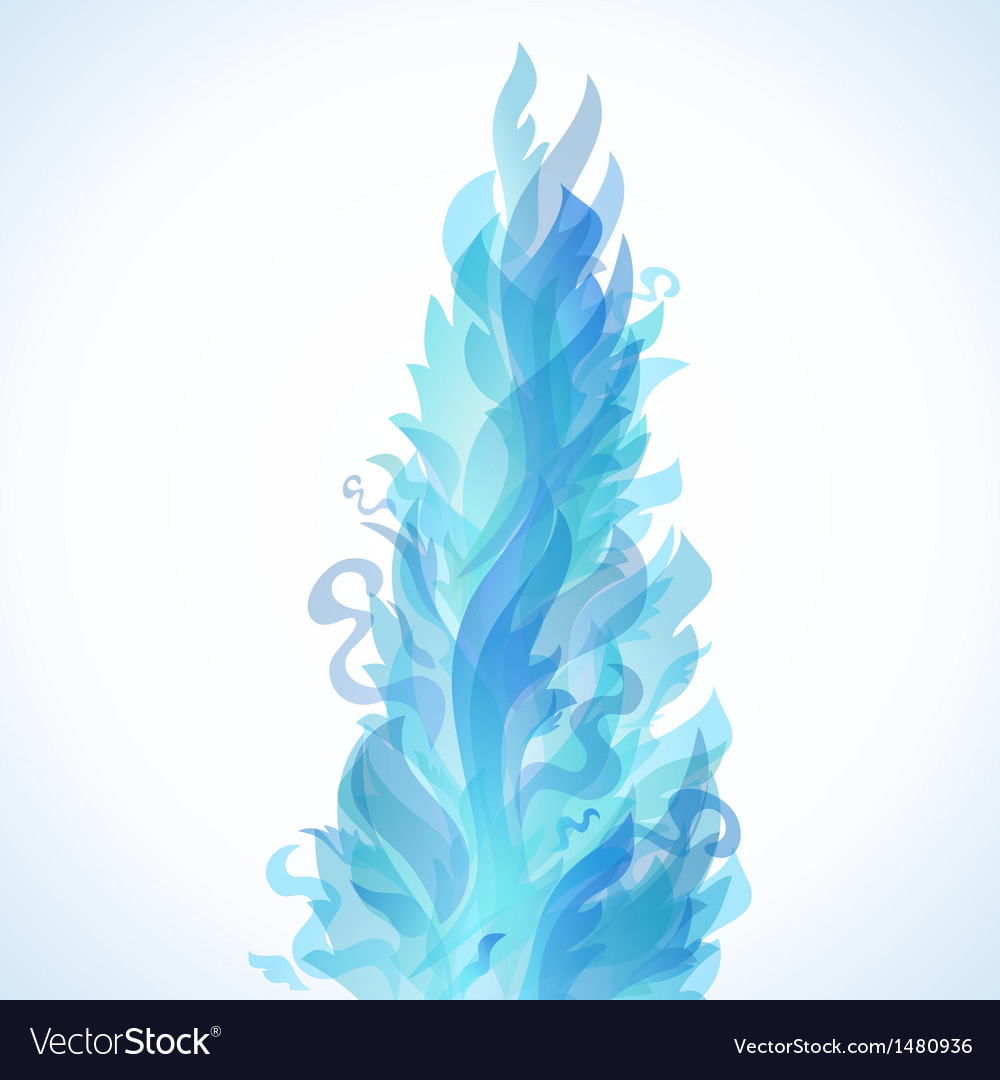 Different blue fire flames on a white background vector   Price: 1 Credit (USD $1)