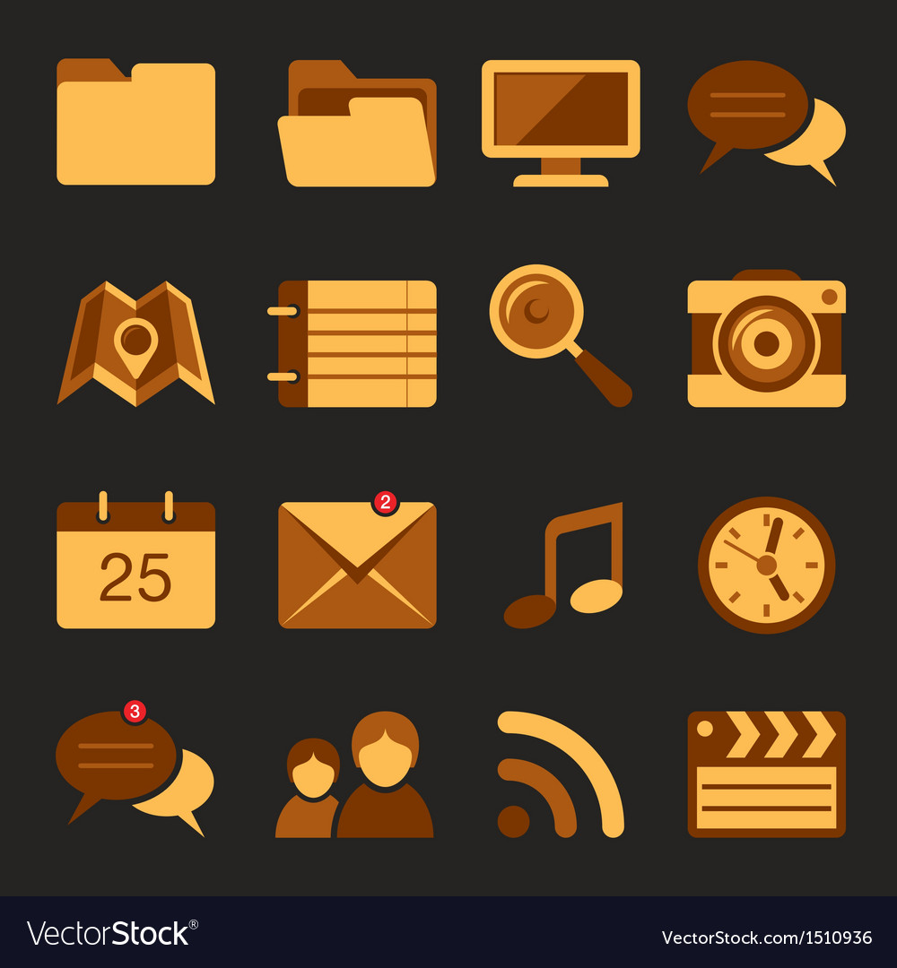 Flat icons set 5 vector | Price: 3 Credit (USD $3)