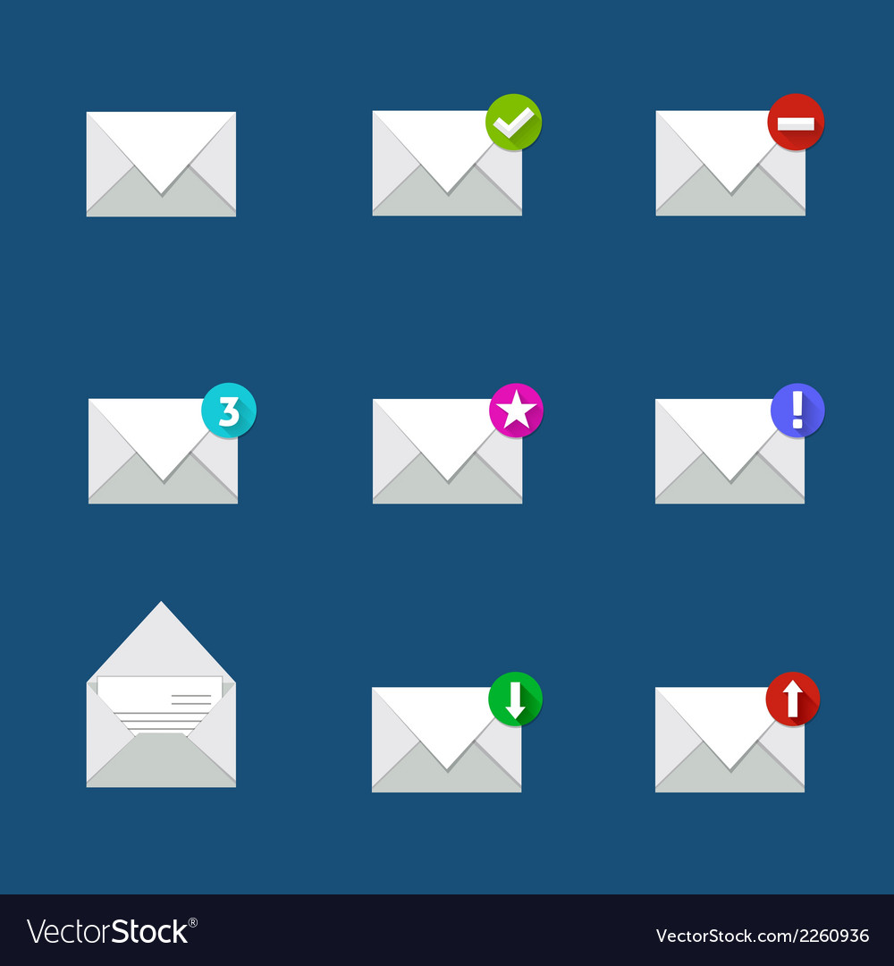 Flat mail icon vector | Price: 1 Credit (USD $1)