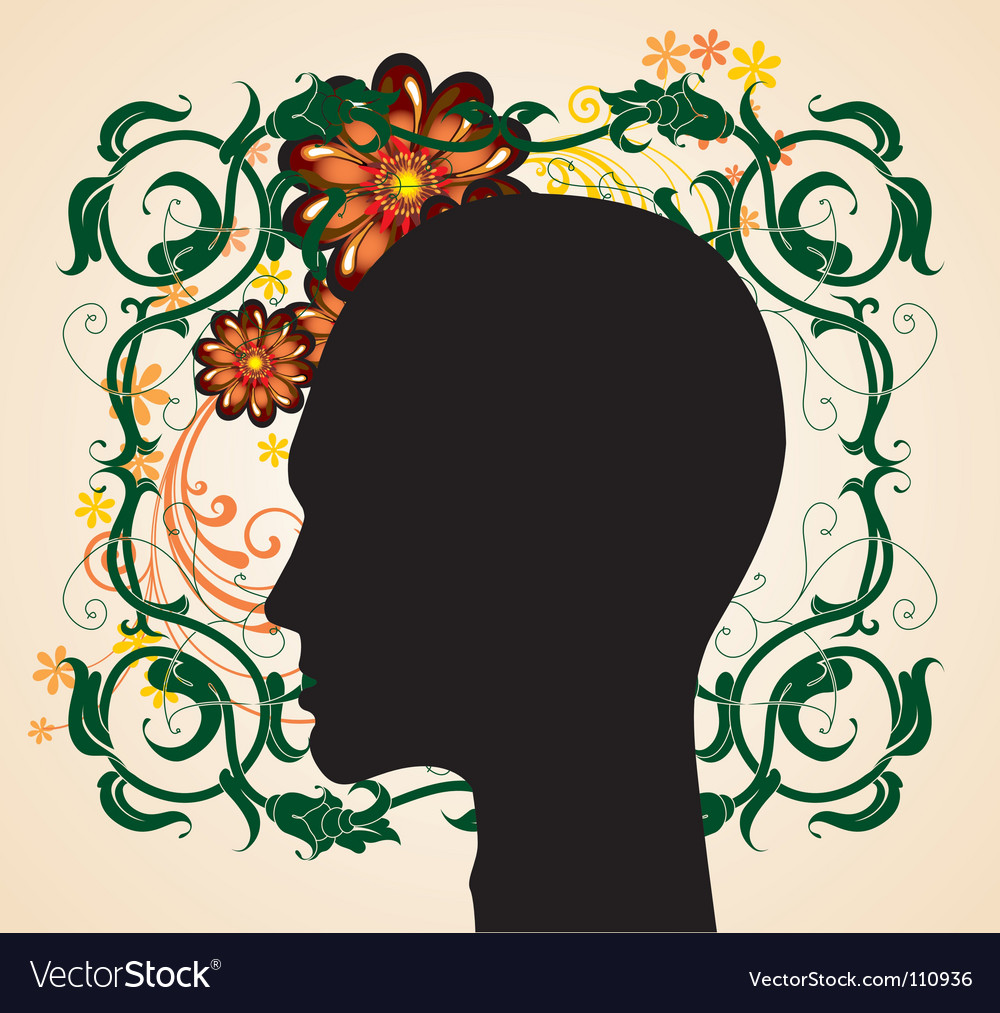 Floral head vector | Price: 1 Credit (USD $1)