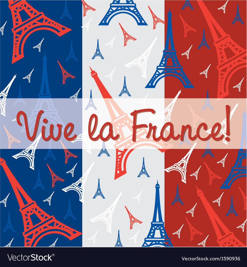 France celebration card vector | Price: 1 Credit (USD $1)