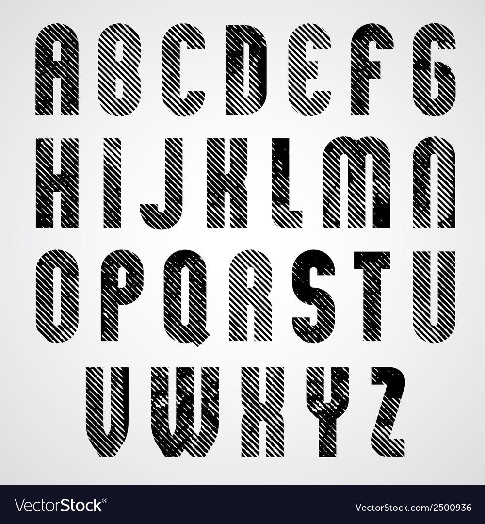 Grunge black grated upper case letters mystique vector | Price: 1 Credit (USD $1)