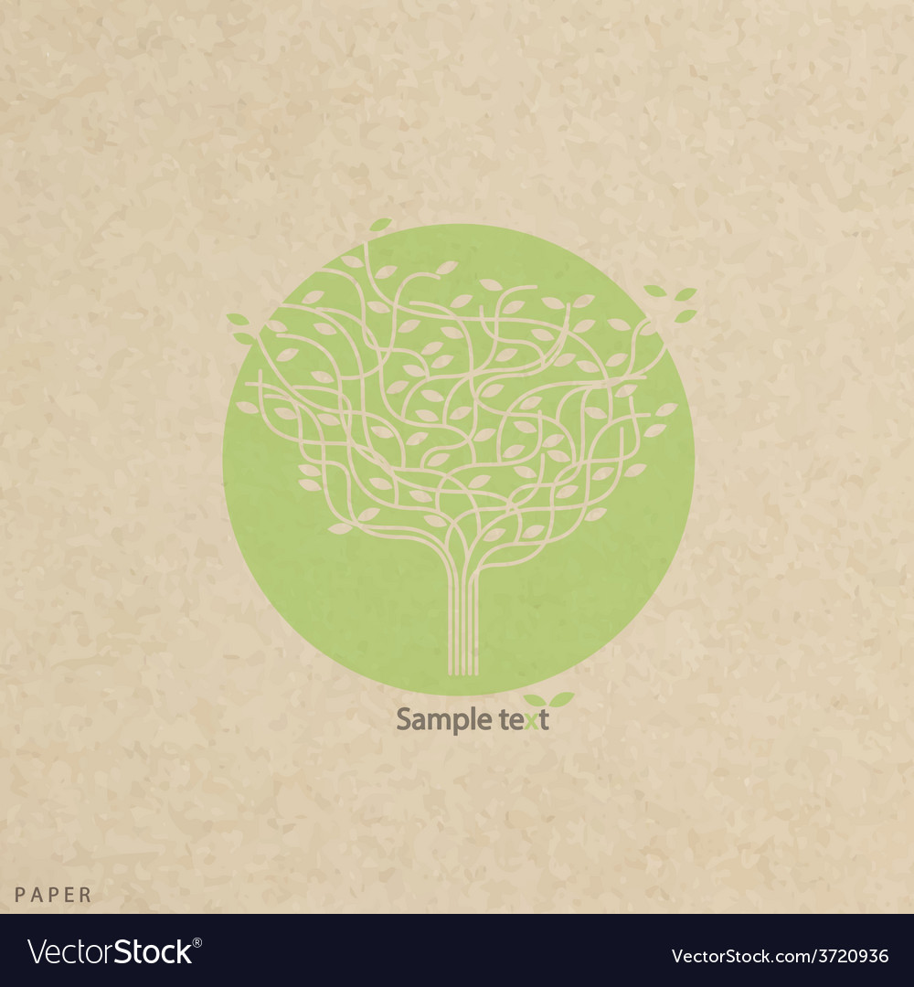 Grunge paper texture stylized tree and icon vector | Price: 1 Credit (USD $1)