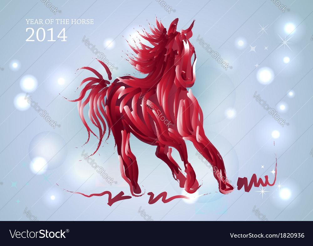 Happy chinese new year of horse 2014 vector | Price: 1 Credit (USD $1)