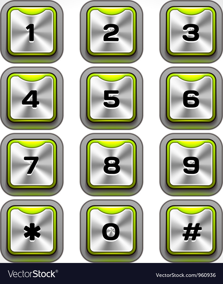 Metal keypad vector | Price: 1 Credit (USD $1)