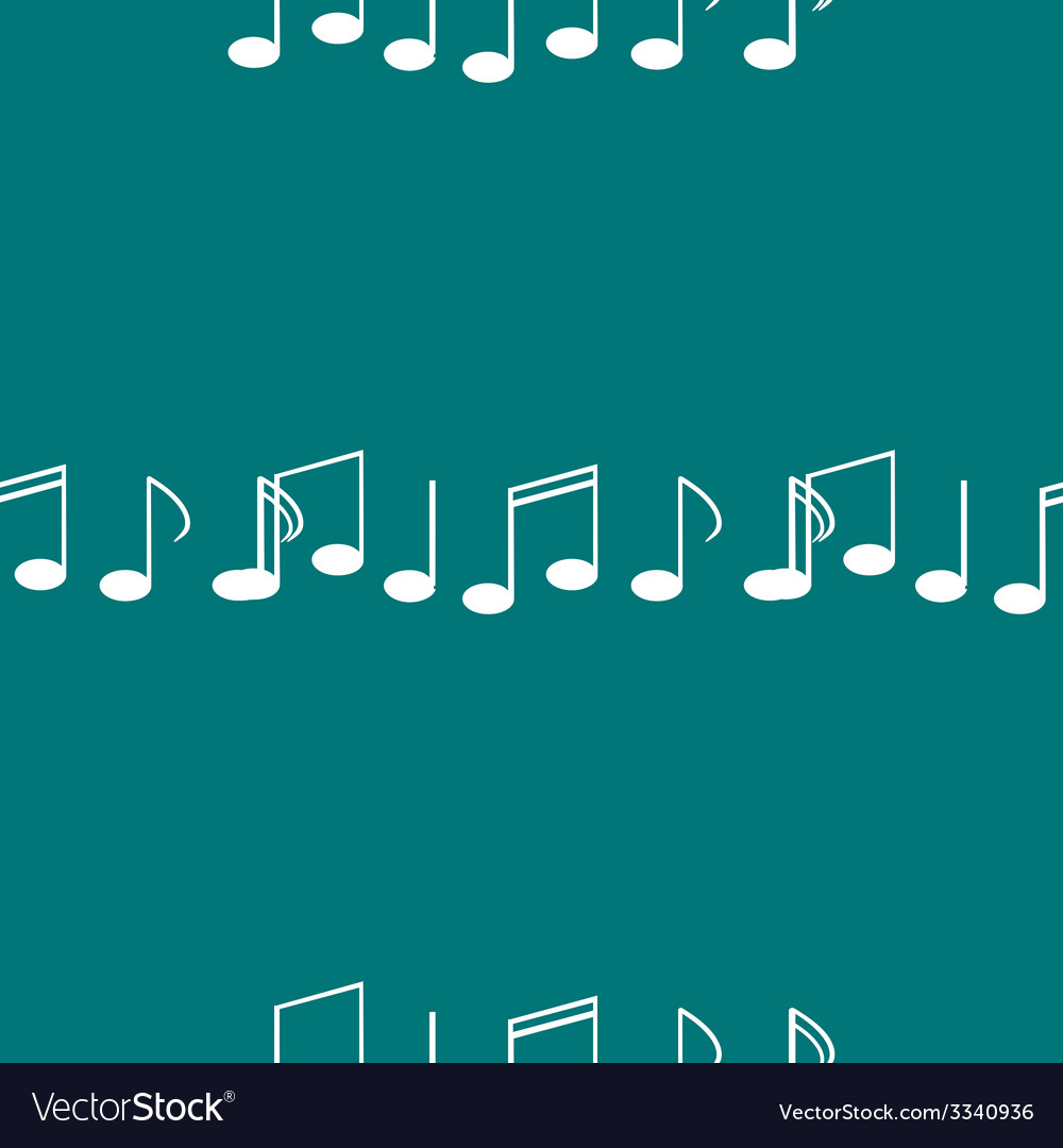 Music elements notes web icon flat design seamless vector | Price: 1 Credit (USD $1)