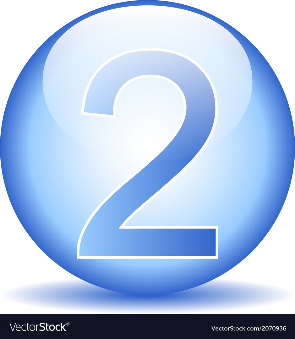 Number two button vector | Price: 1 Credit (USD $1)