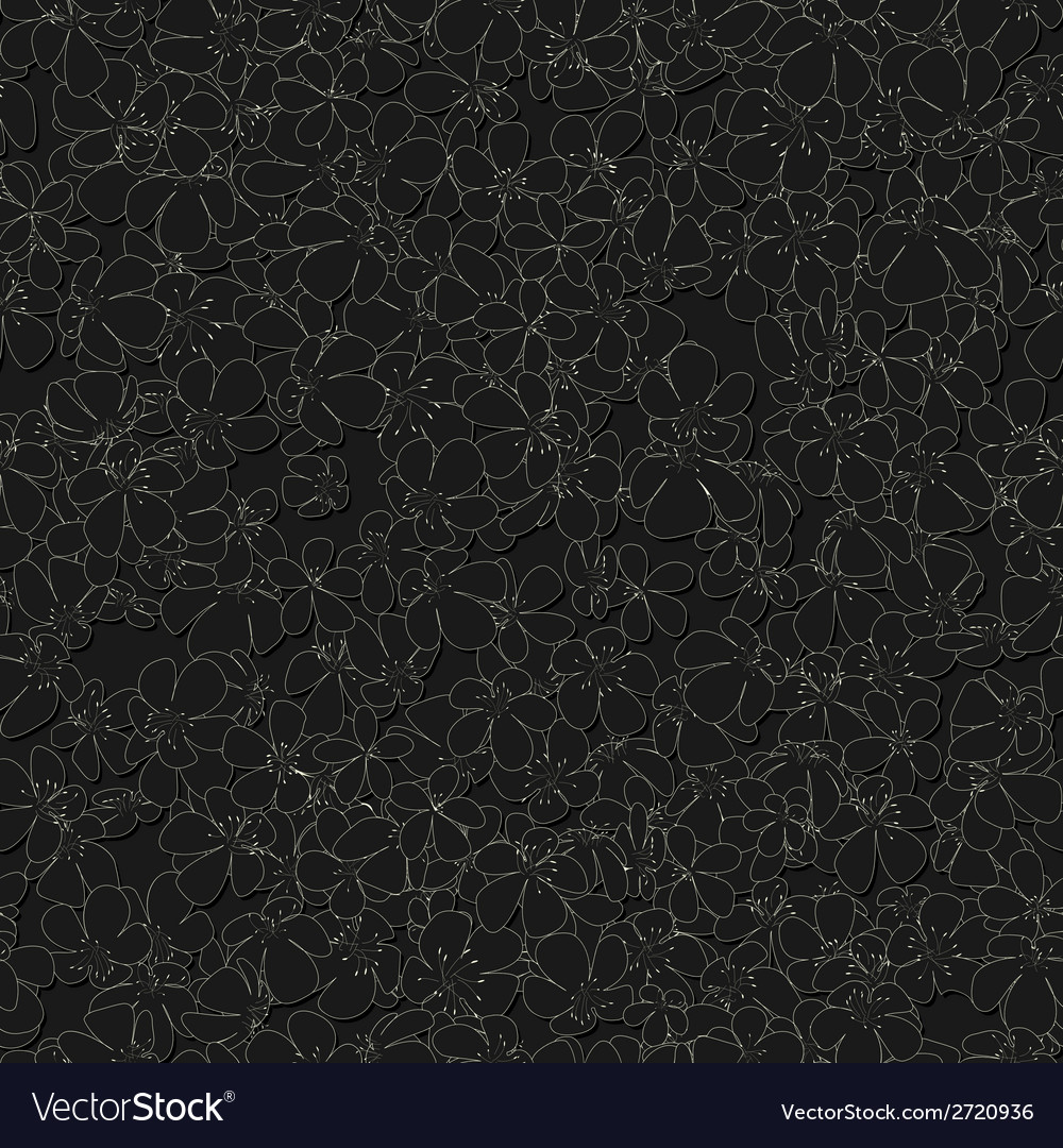 Seamless monochrome pattern with flowers vector | Price: 1 Credit (USD $1)