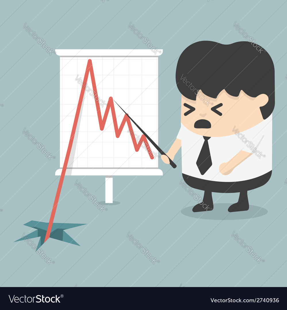 Shares fall vector | Price: 1 Credit (USD $1)