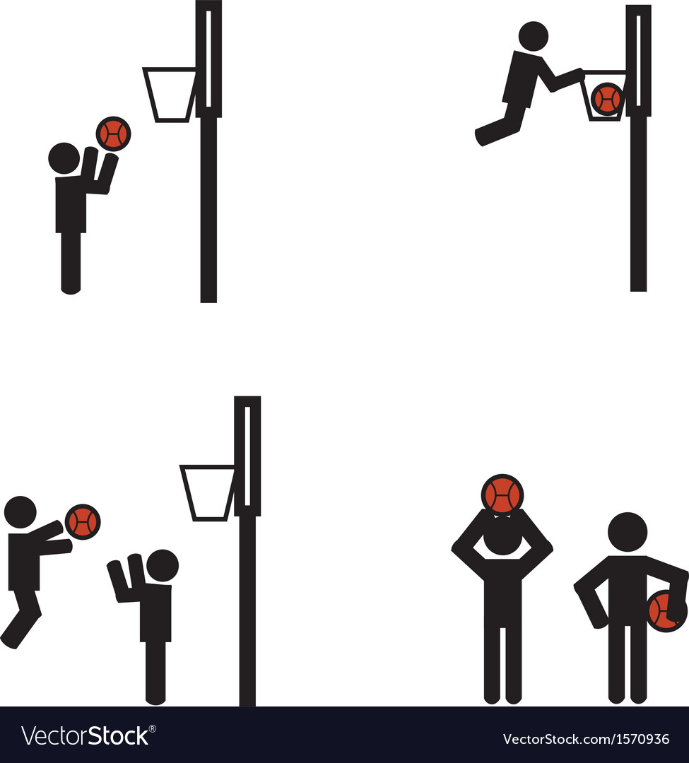 Stick man basketball vector | Price: 1 Credit (USD $1)