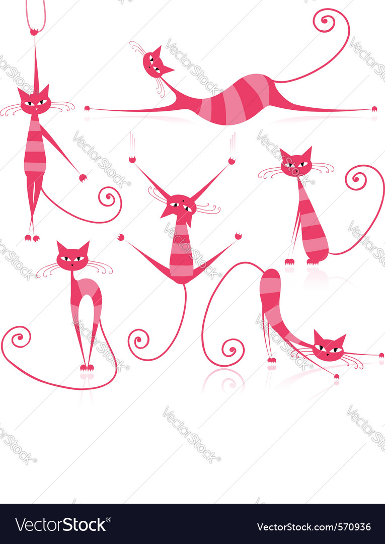 Striped cats vector   Price: 1 Credit (USD $1)
