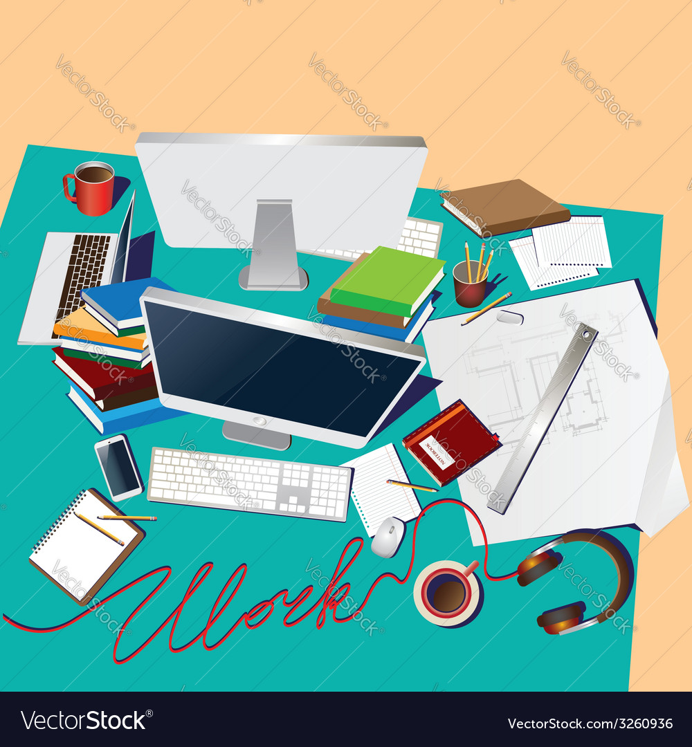 Team workplace vector | Price: 1 Credit (USD $1)