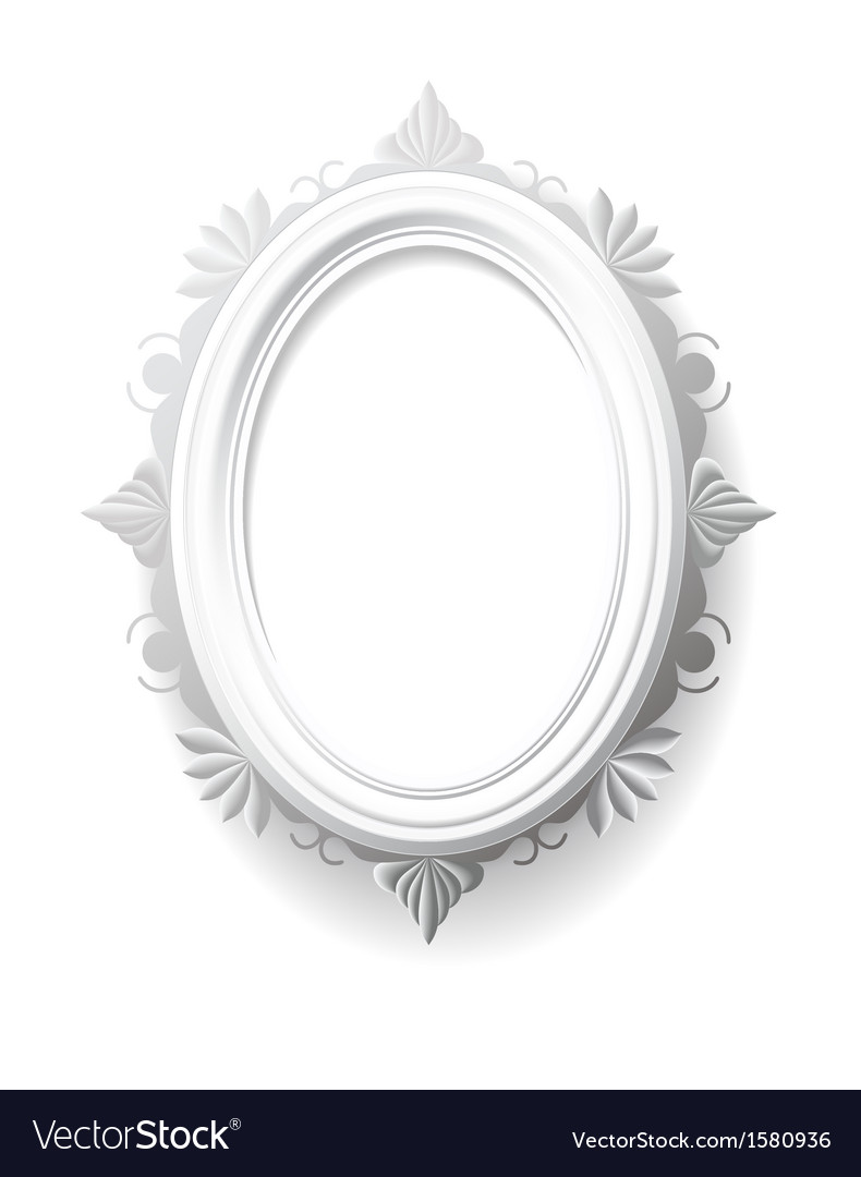 Vintage oval frame vector | Price: 1 Credit (USD $1)