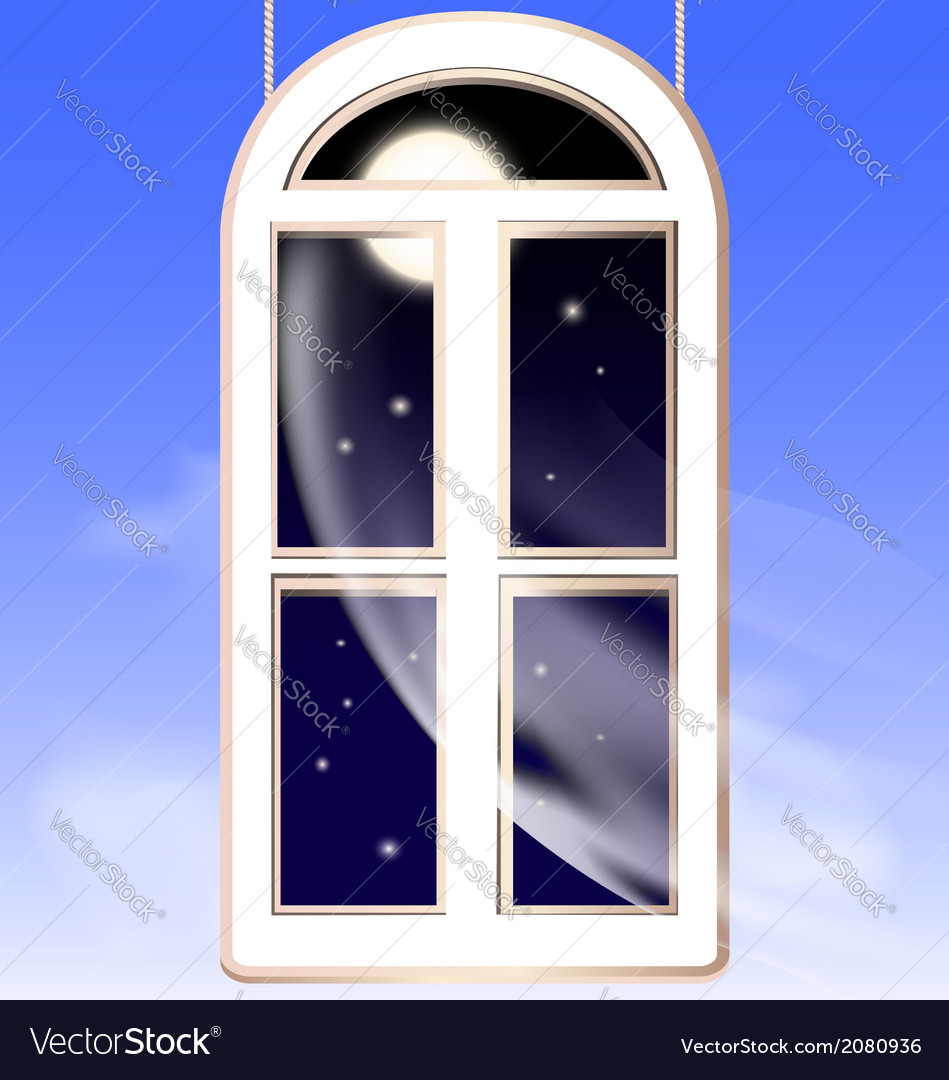 Window in the night vector | Price: 1 Credit (USD $1)