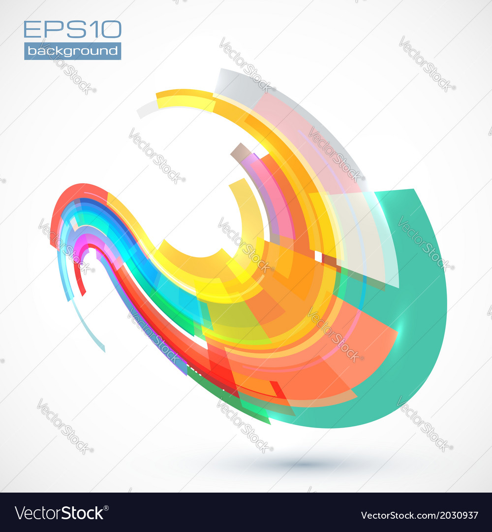 Abstract colorful curve vector | Price: 1 Credit (USD $1)