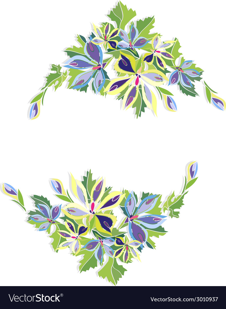Abstract floral frame vector   Price: 1 Credit (USD $1)