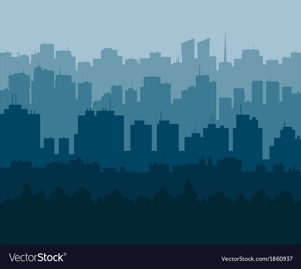 Blue city vector | Price: 1 Credit (USD $1)
