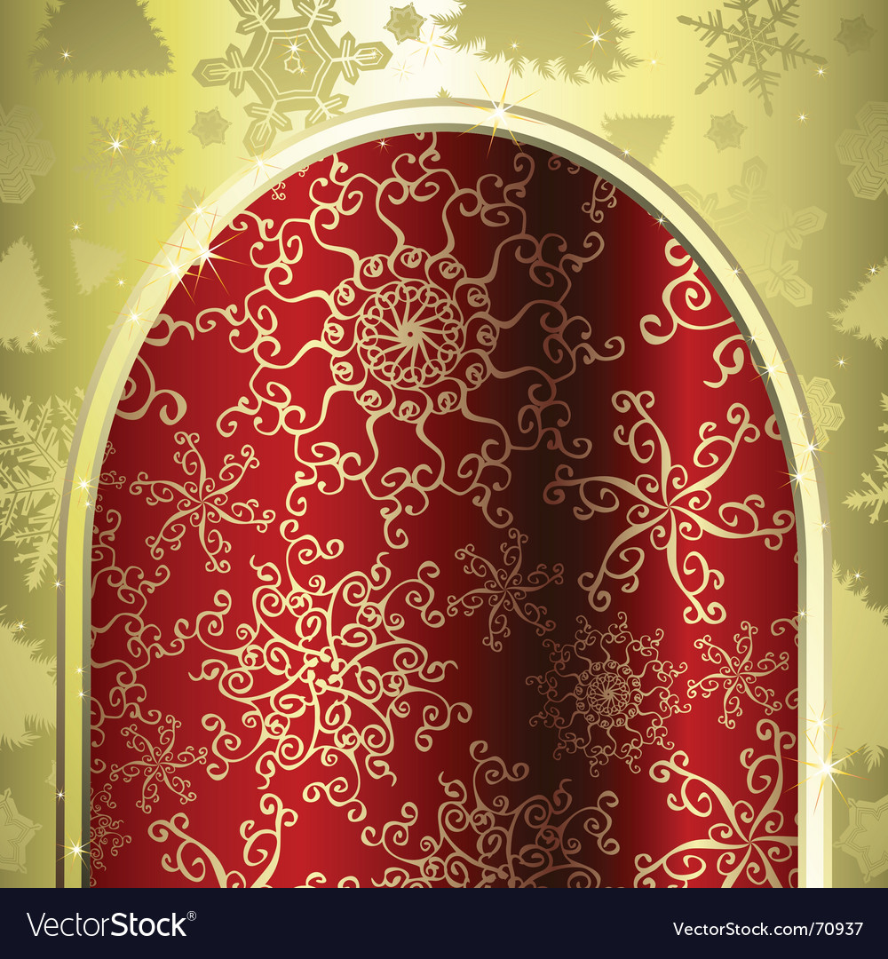 Christmas archway vector | Price: 1 Credit (USD $1)